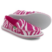 Sanuk I'm Game Shoes - Slip-Ons (For Women) in Fuchsia Zebra - Closeouts