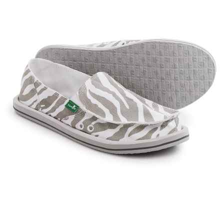 Sanuk I'm Game Shoes - Slip-Ons (For Women) in Zebra Grey - Closeouts