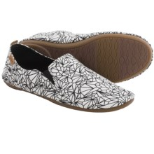 Sanuk Isabel Prints Shoes - Slip-Ons (For Women) in White/Black - Closeouts