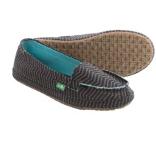 Sanuk Izabella Canvas Shoes - Slip-Ons (For Women) in Black - Closeouts