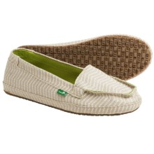 Sanuk Izabella Canvas Shoes - Slip-Ons (For Women) in Natural - Closeouts