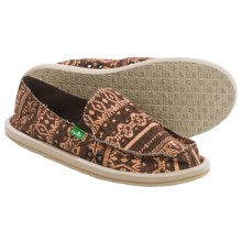Sanuk Johanna Shoes - Slip-Ons (For Women) in Brown - Closeouts