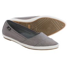 Sanuk Kat Prowl Shoes - Slip-Ons (For Women) in Charcoal - Closeouts