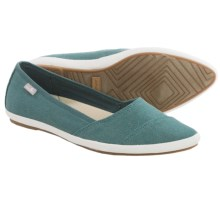 Sanuk Kat Prowl Shoes - Slip-Ons (For Women) in Mallard - Closeouts
