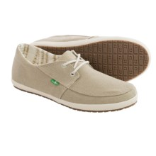 Sanuk Knock Out Shoes - Canvas (For Men) in Natural Washed - Closeouts