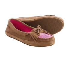 Sanuk Lafayette Suede Moccasins (For Women) in Chestnut/Hot Pink - Closeouts