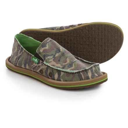 Sanuk Lil Donny Funk Camo Shoes - Slip-Ons (For Big Boys) in Camo - Closeouts