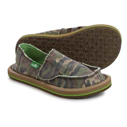 Sanuk Lil Donny Funk Camo Shoes - Slip-Ons (For Little Boys) in Camo - Closeouts