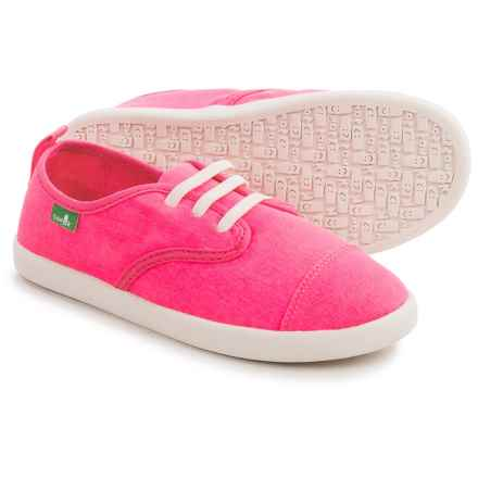 Sanuk Lil Mollie Sneakers (For Little and Big Girls) in Hot Pink - Closeouts