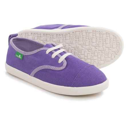 Sanuk Lil Mollie Sneakers (For Little and Big Girls) in Hot Purple - Closeouts