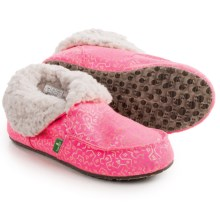 Sanuk Lil Slumbrrr Print Slippers (For Little and Big Girls) in Hot Pink/Gold - Closeouts