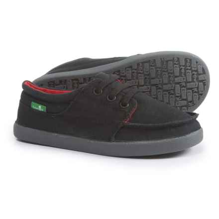 Sanuk Lil TKO Boat Shoes (For Boys) in Black - Closeouts