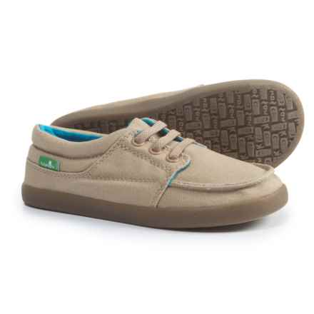 Sanuk Lil TKO Boat Shoes (For Boys) in Tan - Closeouts