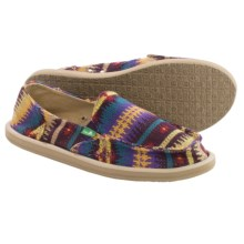 Sanuk Mika Shoes - Slip-Ons (For Women) in Purple Nordic - Closeouts