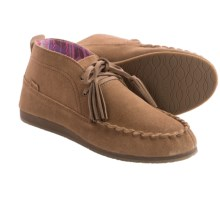 Sanuk Moccodile Suede Moccasins (For Women) in Chestnut - Closeouts