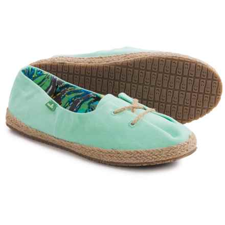 Sanuk Mochi Lace Shoes (For Women) in Mint - Closeouts