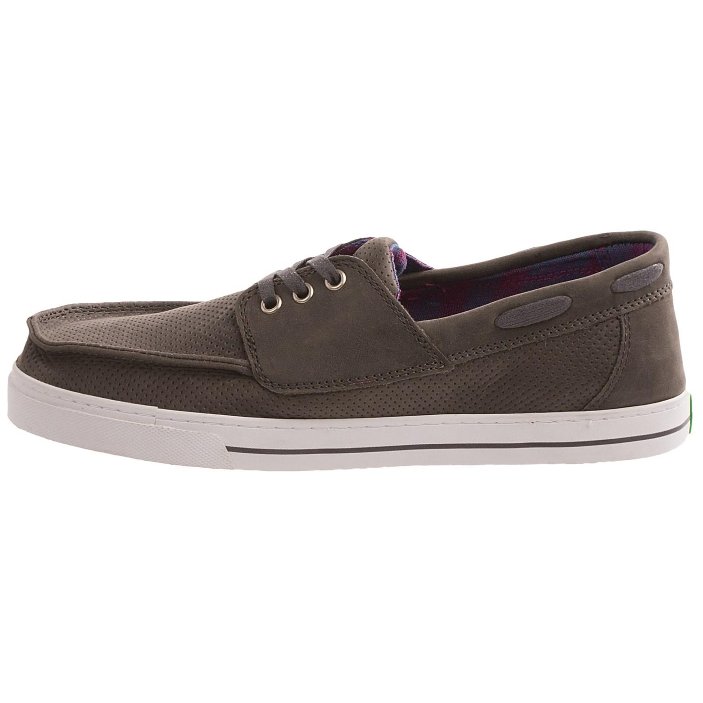Sanuk Leather Boat Shoes