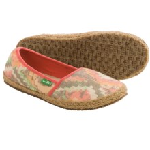 Sanuk Mya Shoes - Slip-Ons (For Women) in Orange/Multi - Closeouts