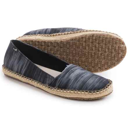Sanuk Natal Shoes - Slip-Ons (For Women) in Black Ikat - Closeouts