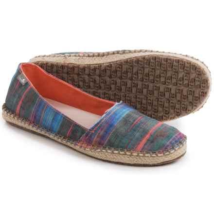 Sanuk Natal Shoes - Slip-Ons (For Women) in Multi Ikat - Closeouts