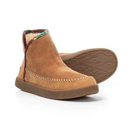 Sanuk Nice Bootah LX Ankle Boots - Suede (For Women) in Tobacco/Rainbow - Closeouts