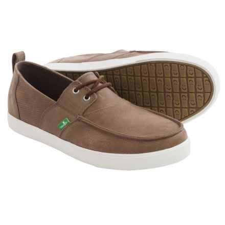 Sanuk Offshore Deluxe Shoes - Leather (For Men) in Brown - Closeouts