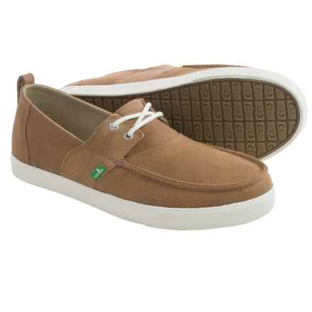 Sanuk Offshore Deluxe Shoes - Leather (For Men) in Tan - Closeouts