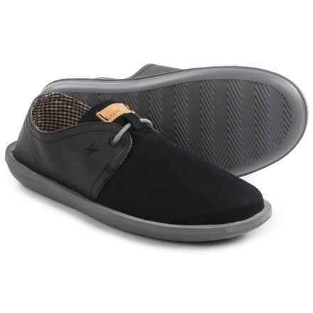 Sanuk Parra Select Shoes - Vegan Leather (For Men) in Black - Closeouts