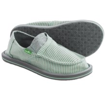 Sanuk Pick Pocket Tee Shoes - Slip-Ons (For Big Girls) in Eggshell Stripes - Closeouts