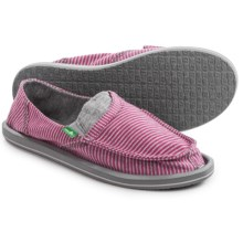 Sanuk Pick Pocket Tee Shoes - Slip-Ons (For Women) in Berry Stripes - Closeouts