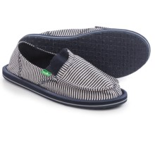 Sanuk Pick Pocket Tee Shoes - Slip-Ons (For Women) in Navy Stripes - Closeouts