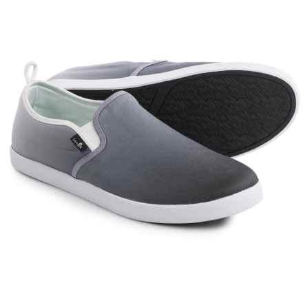 Sanuk Range Funk Shoes - Slip-Ons (For Men) in Black/Black Gradient - Closeouts