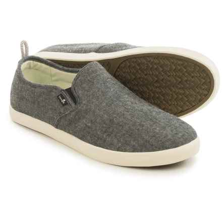 Sanuk Range TX Chambray Shoes - Slip-Ons (For Men) in Black Chambray - Closeouts