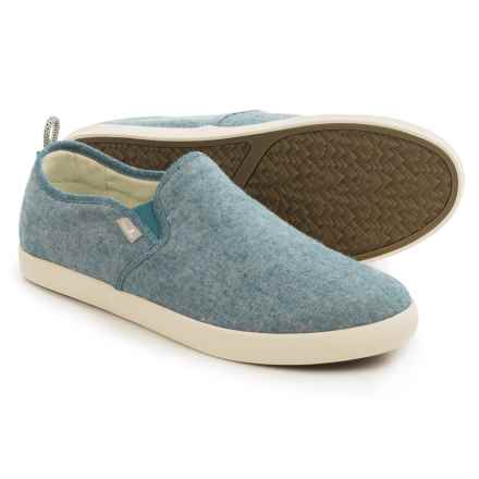 Sanuk Range TX Chambray Shoes - Slip-Ons (For Men) in Blue Chambray - Closeouts