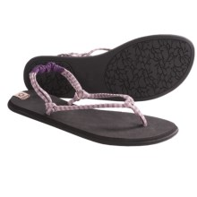 Sanuk Rasta Knotty Sandals (For Women) in Purple/Cream - Closeouts