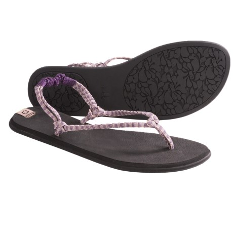 Sanuk Rasta Knotty Sandals (For Women) in Purple/Cream