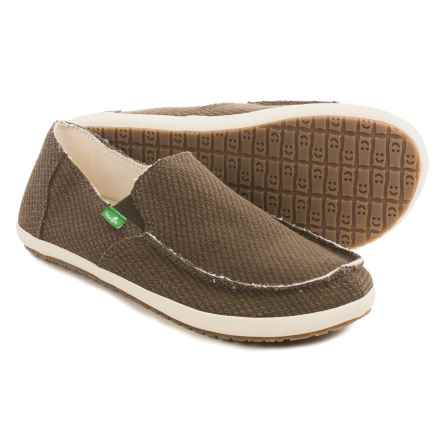 Sanuk Rounder Hobo Hemp Shoes - Slip-Ons (For Men) in Brown Hemp - Closeouts