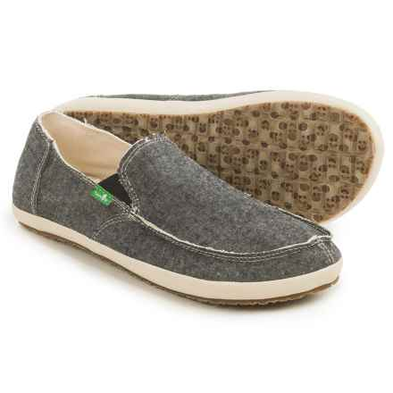 Sanuk Rounder Hobo TX Shoes - Slip-Ons (For Men) in Black Chambray - Closeouts