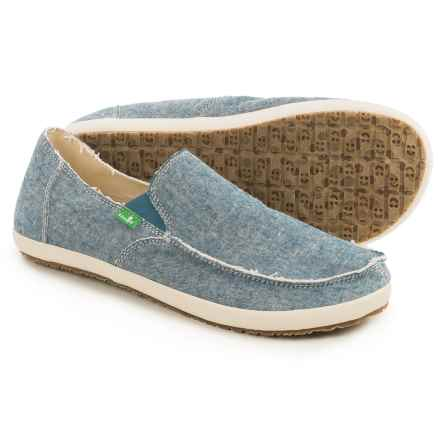 Sanuk Rounder Hobo TX Shoes - Slip-Ons (For Men) in Blue Chambray - Closeouts
