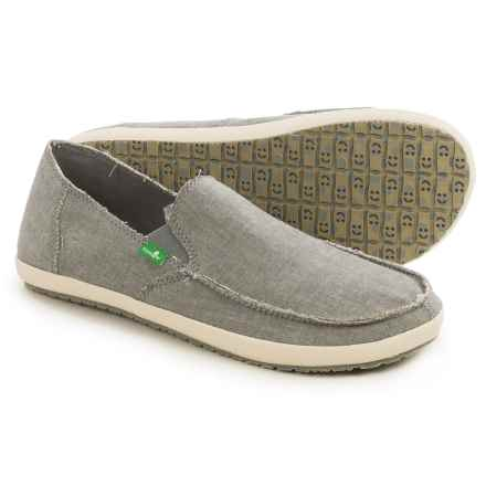 Sanuk Rounder Hobo TX Shoes - Slip-Ons (For Men) in Grey Chambray - Closeouts