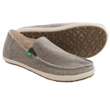 Sanuk Rounder Hobo TX Shoes - Slip-Ons (For Men) in Olive Chambray - Closeouts
