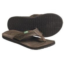 Sanuk Saddle Up Thong Sandals (For Men) in Brown - Closeouts
