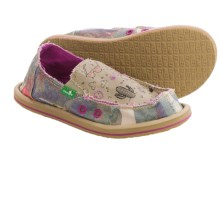 Sanuk Scribble II Shoes - Slip-Ons (For Big Girls) in Camo Floral - Closeouts