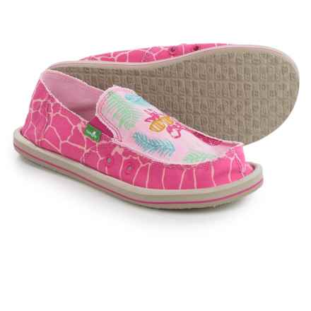 Sanuk Scribble II Shoes - Slip-Ons (For Big Girls) in Giraffe Palm - Closeouts