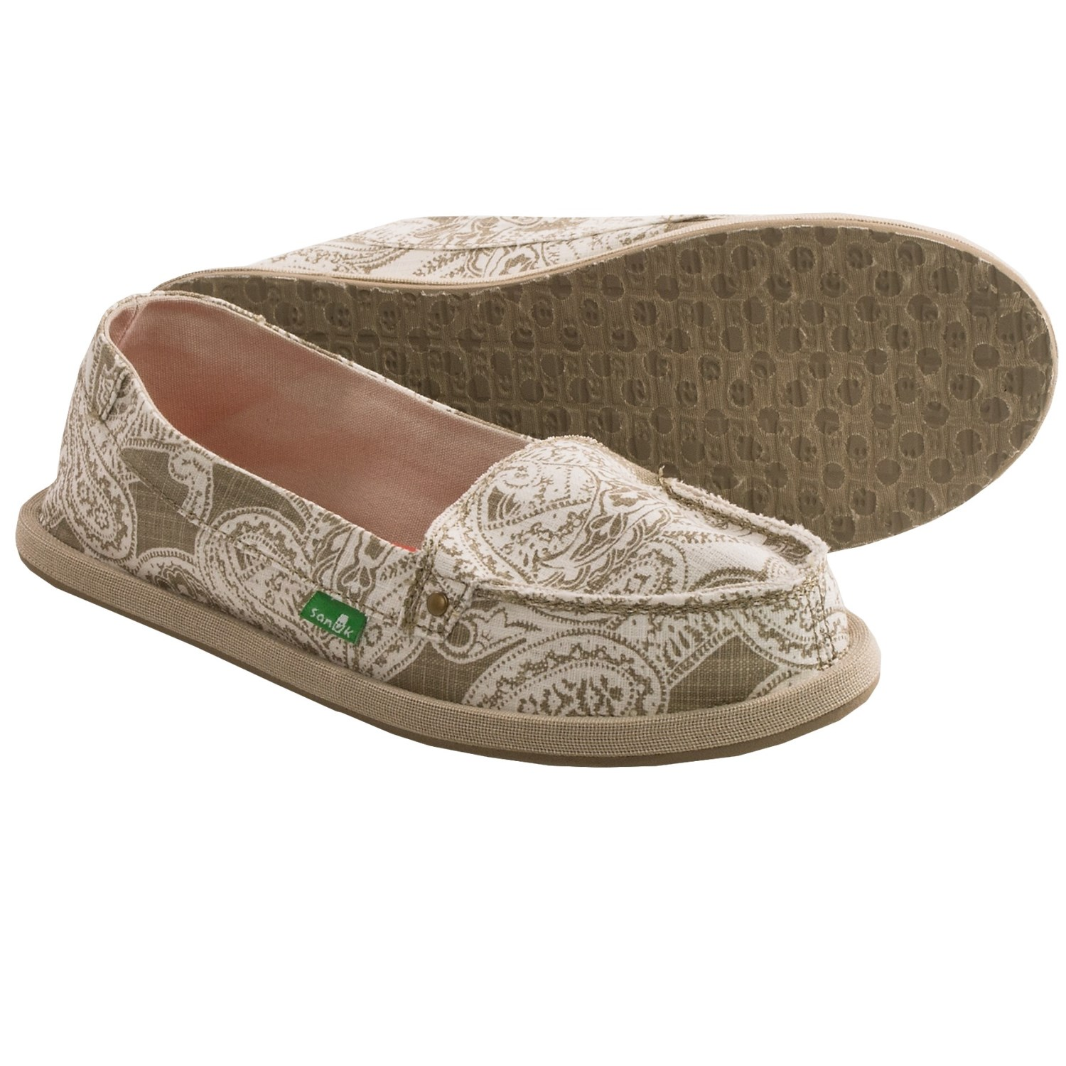 Sanuk Shorty Wrapped Shoes - Slip-Ons (For Women) in Natural - Closeouts