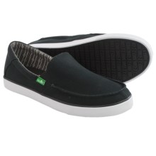 Sanuk Sideline Canvas Shoes - Slip-Ons (For Men) in Black - Closeouts