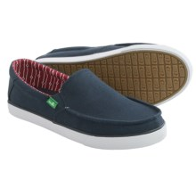 Sanuk Sideline Canvas Shoes - Slip-Ons (For Men) in Navy - Closeouts