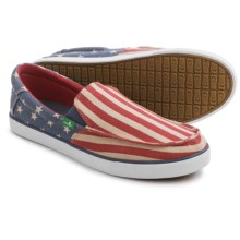 Sanuk Sideline Patriot Shoes - Slip-Ons (For Men) in American Flag - Closeouts