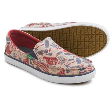 Sanuk Sideline Patriot Shoes - Slip-Ons (For Men) in American Icon - Closeouts