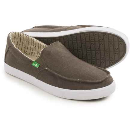 Sanuk Sideline TX Shoes - Slip-Ons (For Men) in Brindle Linen - Closeouts
